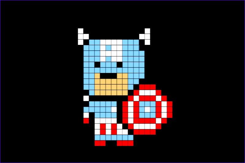 pixel captain america 800534