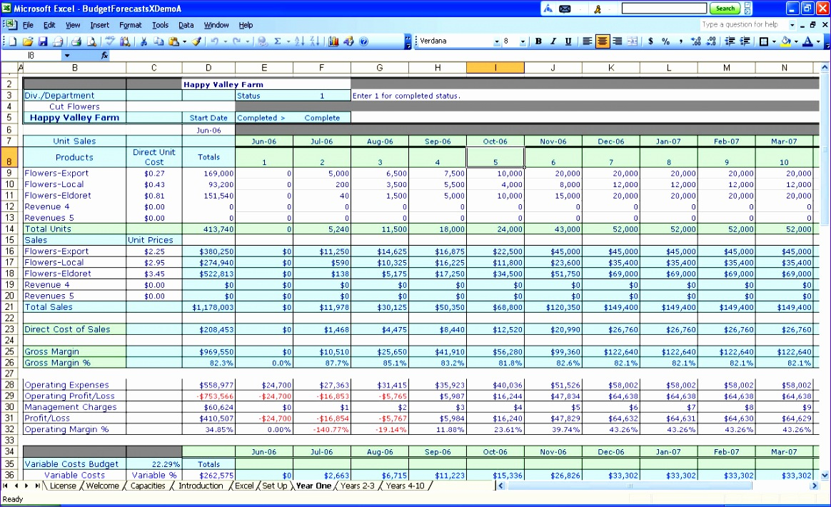 12 business excel spreadsheet templates exceltemplates for Crop budget template