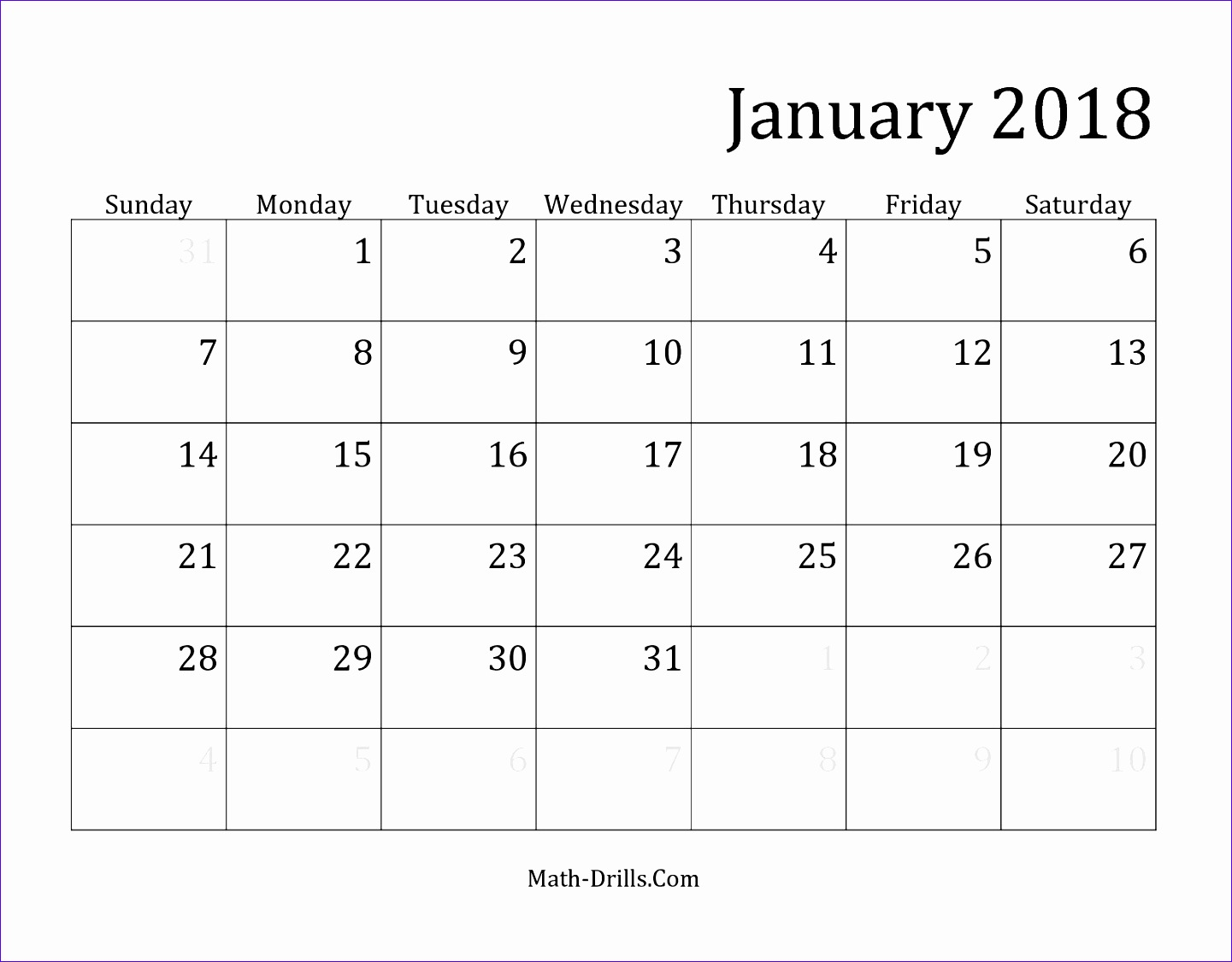 2018 monthly calendar template 1807 14411126