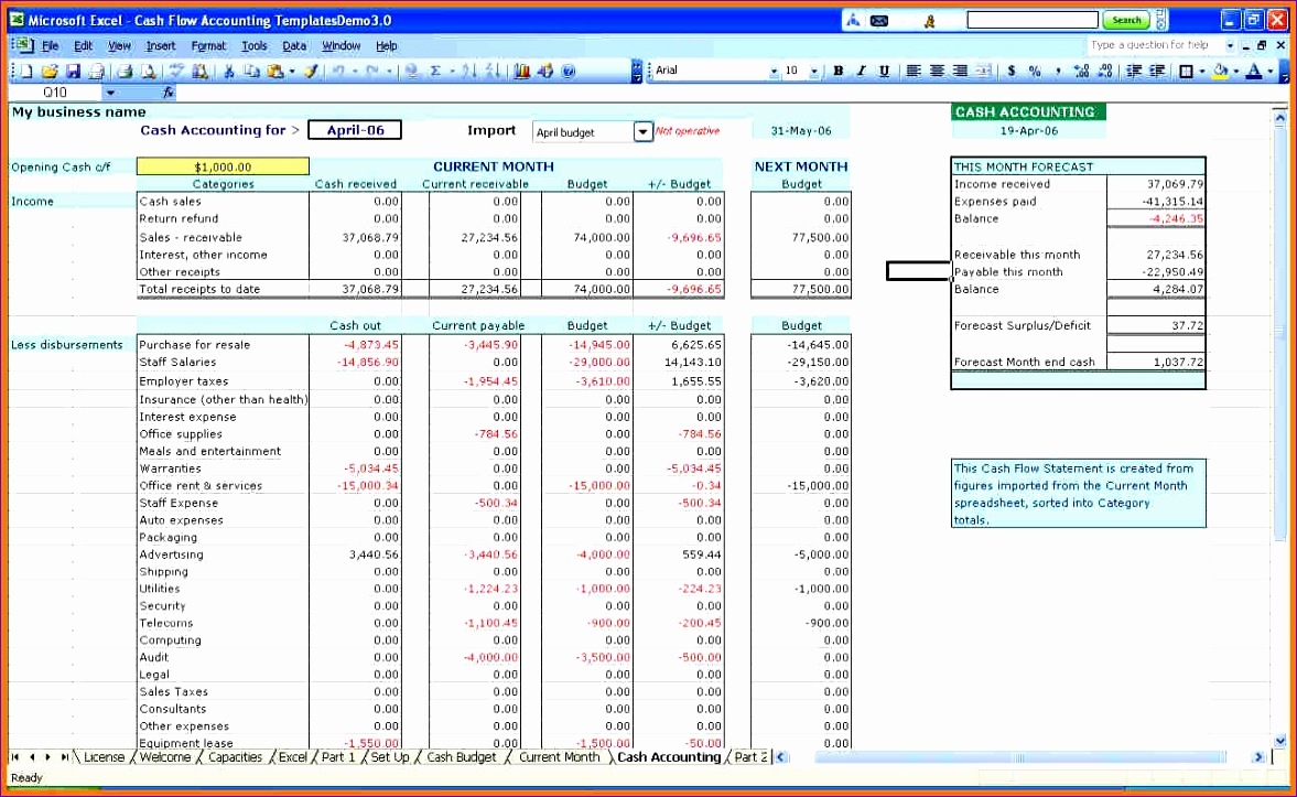 small business spreadsheet for in e and expenses 1177723
