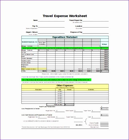 expense sheet template 532575