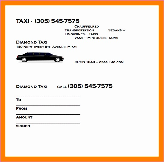 6 taxi bill format in word 551547
