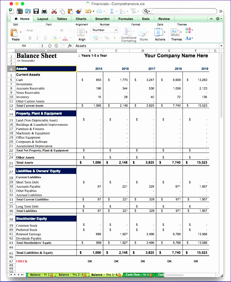 business plan software template excel financial projection model 745909