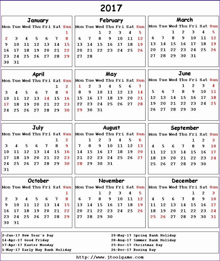 2017 calendar uk 2222 715850