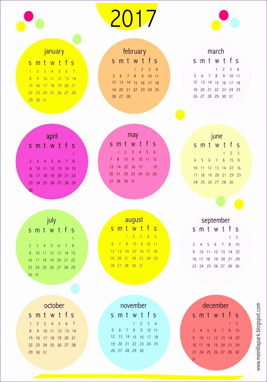printable mini calendars 2017