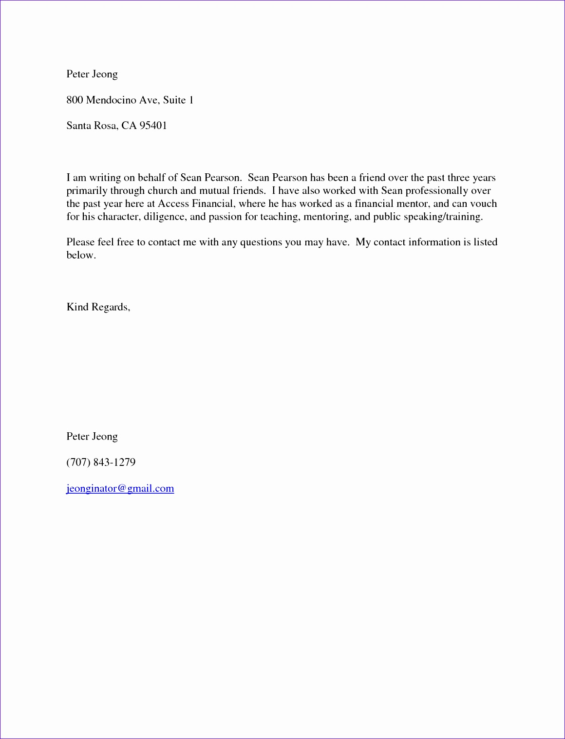 re mendation letter for a friend template 11601518