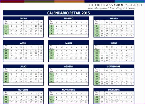 calendario retail 2016 friedman 494356