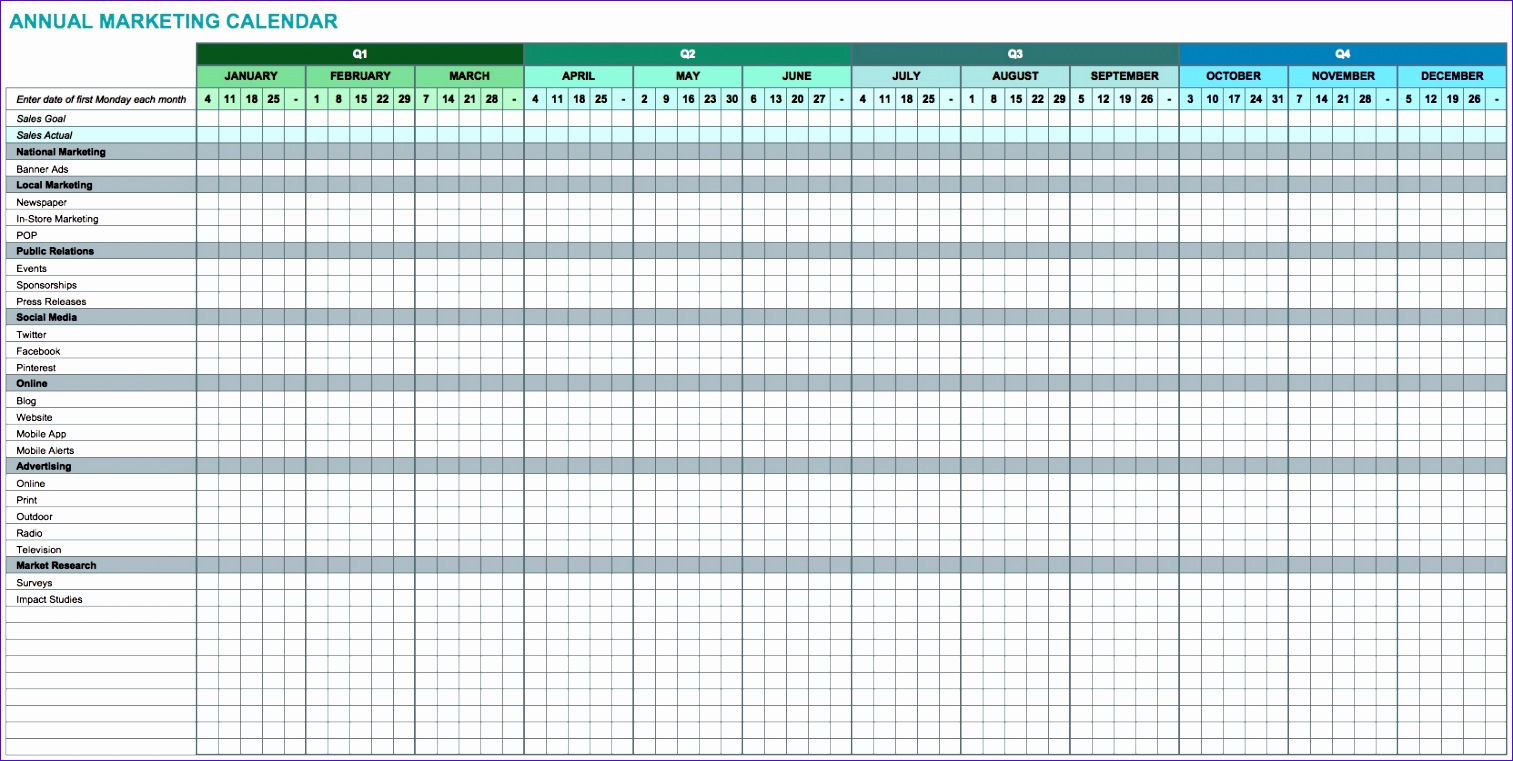 9 free marketing calendar templates for excel smartsheet 4 1513761