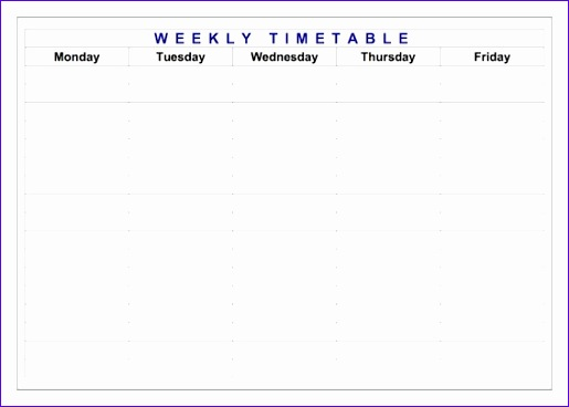 classroom timetable weekly layout 515368