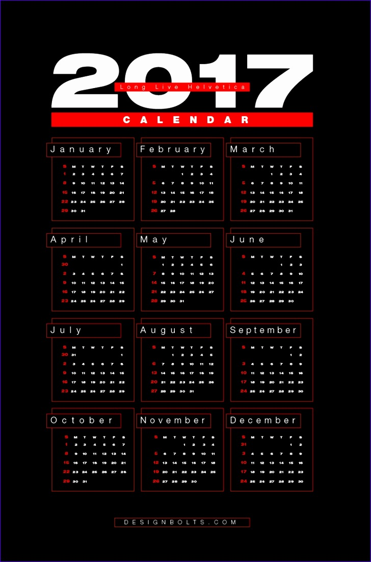 free 2017 wall calendar printable design template in ai eps cdr pictures