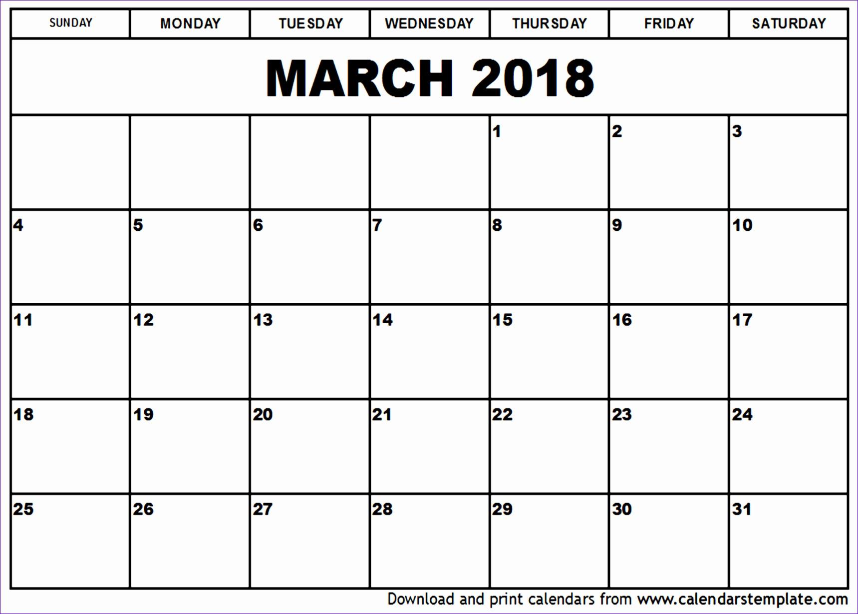 march 2018 calendar template 1543 17191229