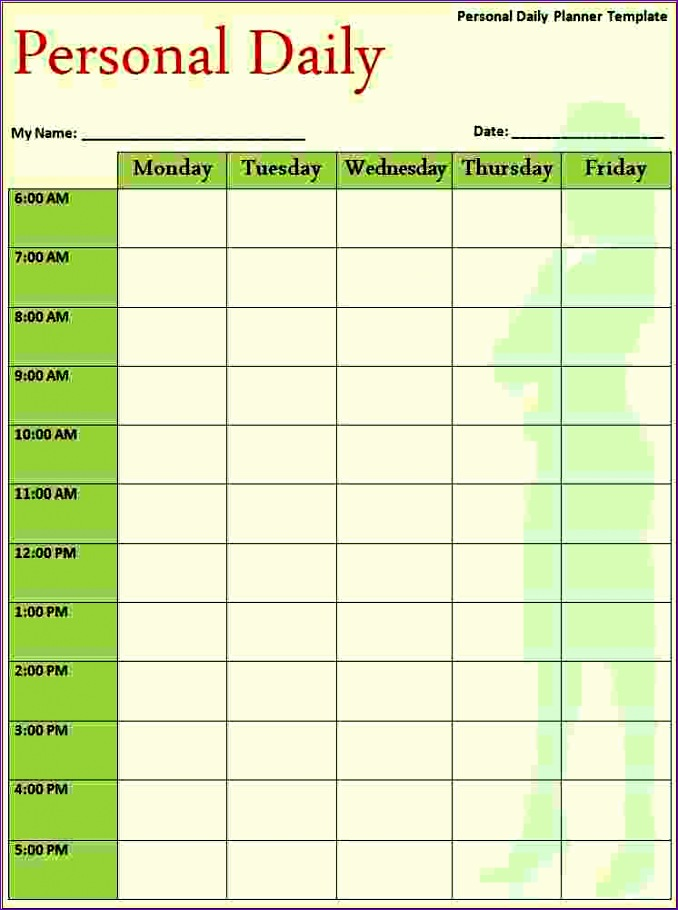 5 free daily calendar template 678910
