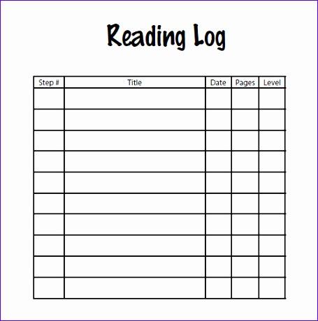 log template 455460