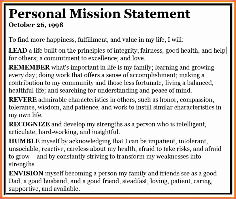 5 personal mission statement generator 819692