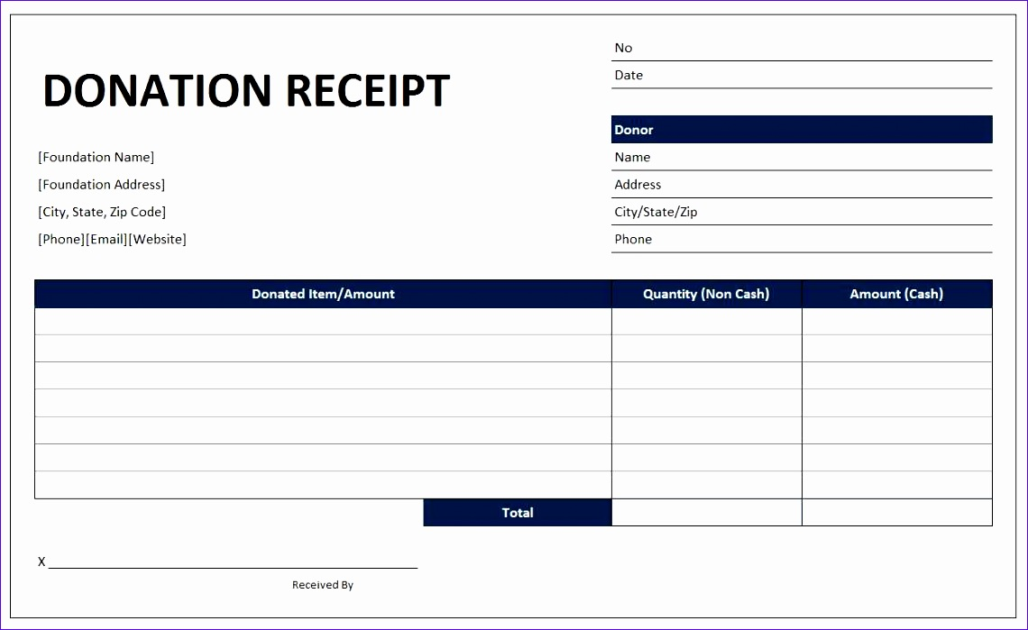 donation receipt template 1140699