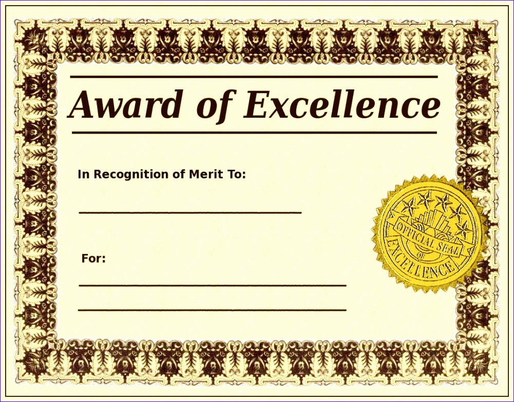 award excellence template 1001782