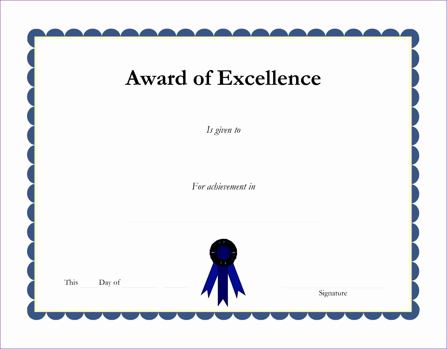 good looking academic certificate of excellence template