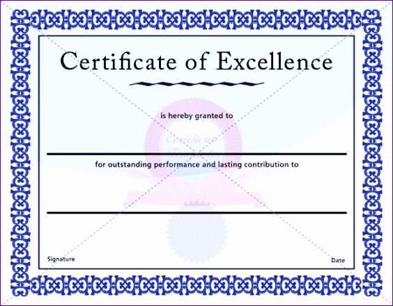certificate of excellence template 564440
