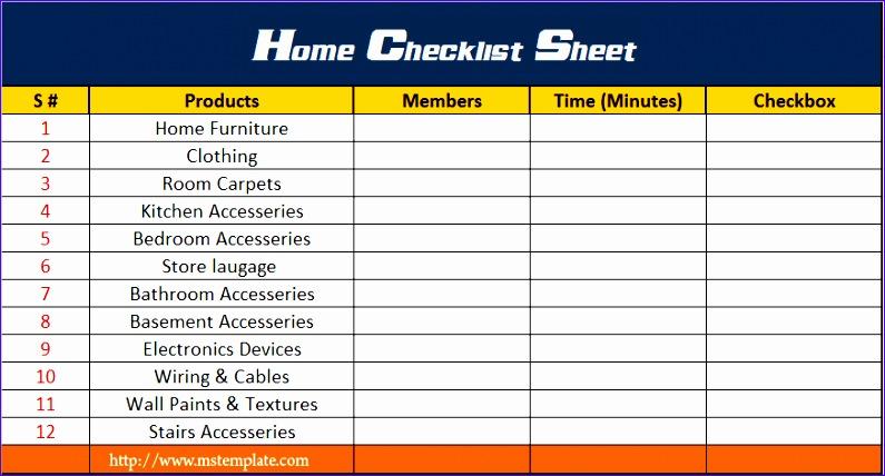 checklist template excel 795428