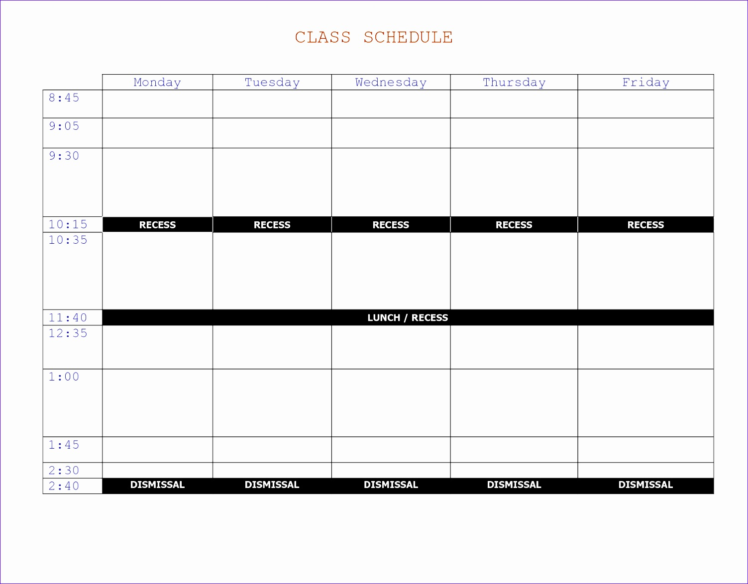 6 college schedule template 15031174