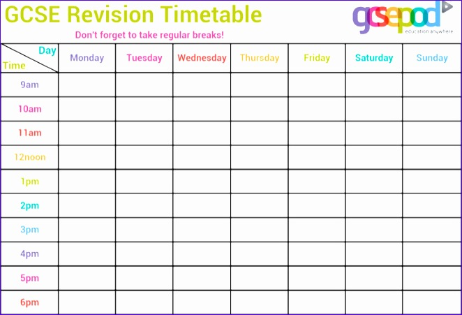 College Schedule Template Excel  Exceltemplates  Exceltemplates