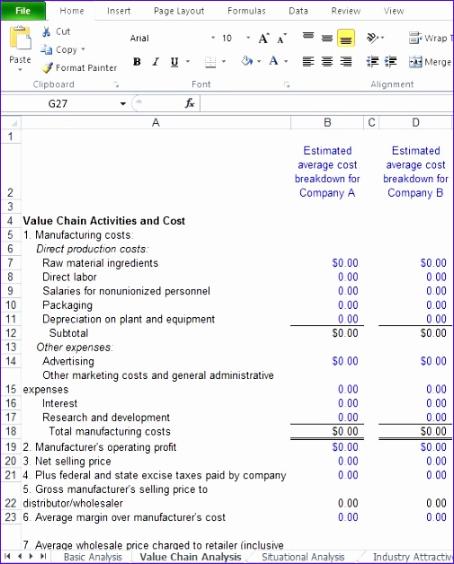Competitive Analysis Template Excel Osxgr Awesome How To Create A