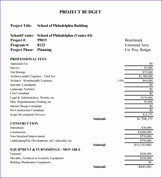 Construction Estimate Template Excel  Exceltemplates  Exceltemplates