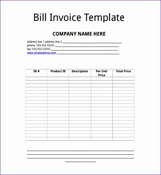 microsoft invoice template 527570