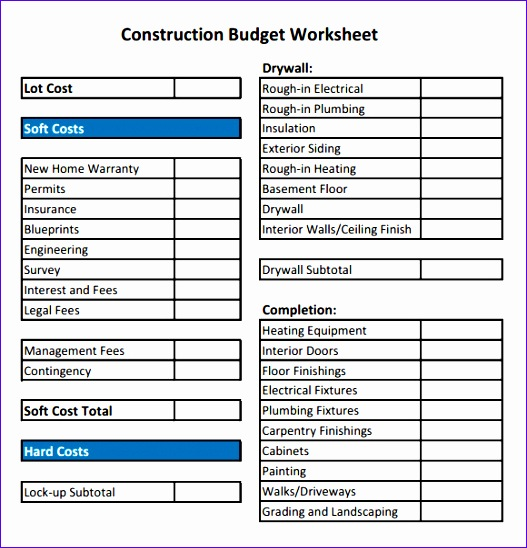 residential construction bud template 906 527548