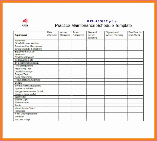 equipment maintenance plan format 550494