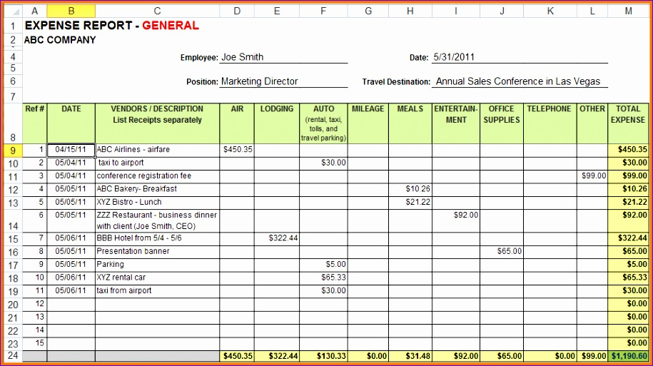 6 excel expense report 915513