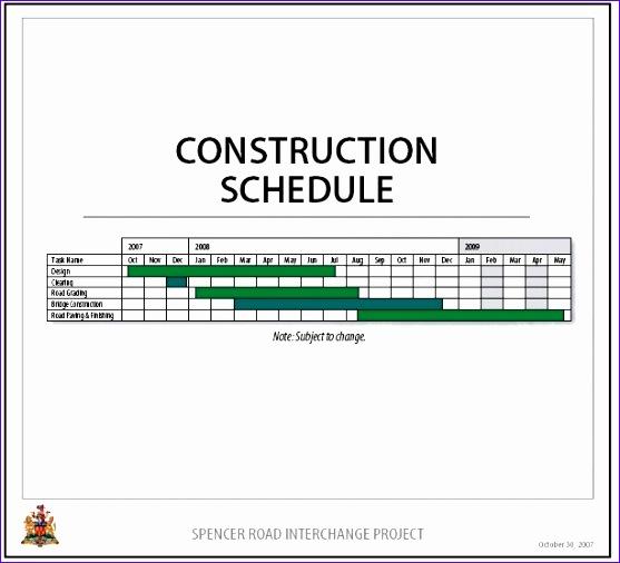 construction work schedule template 557506