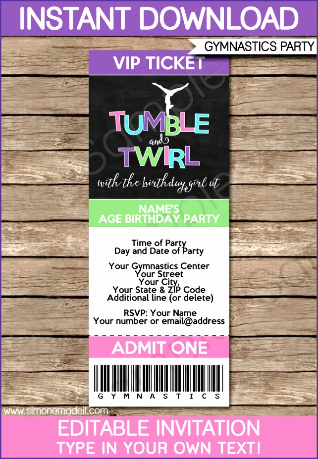 ticket invitation template 642927