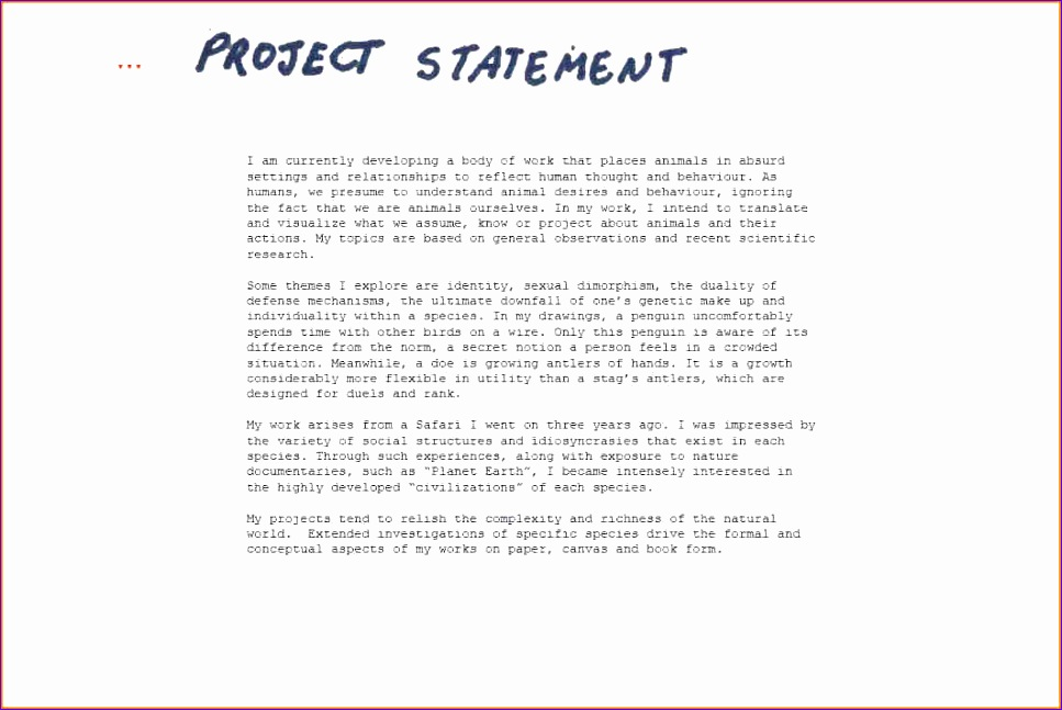 12 project statement