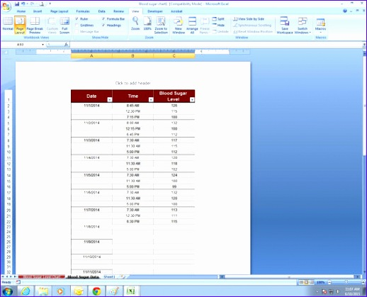 7 Control Chart Excel Template - Excel Templates - Excel ...