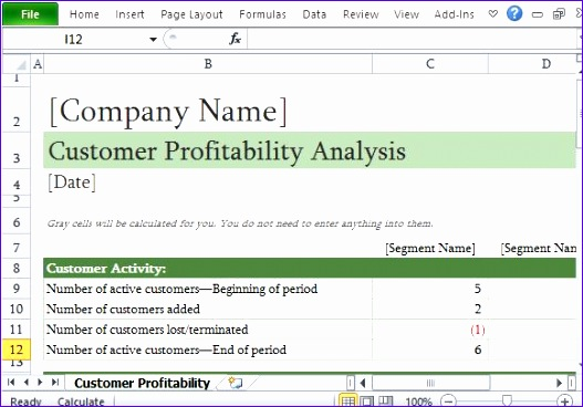 how to easily perform a customer profitability analysis in excel 527368