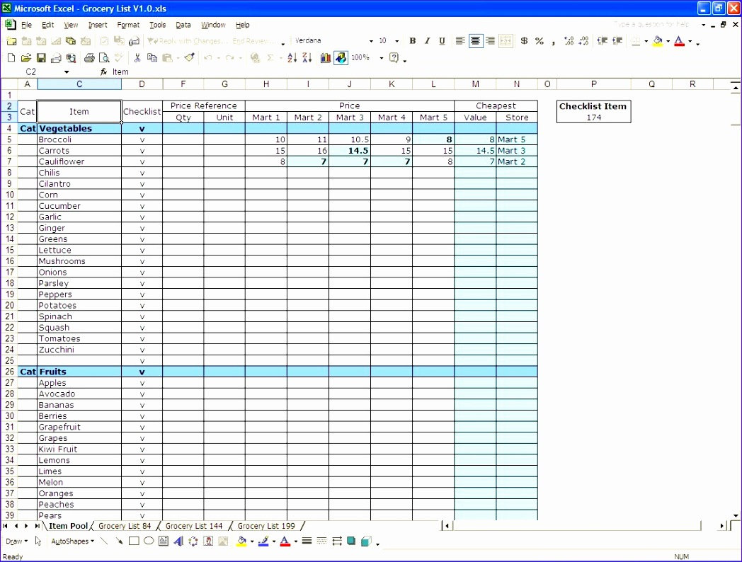 requirements spreadsheet template