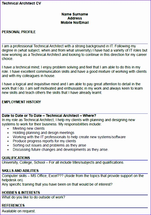 technical architect cv example 2 520739