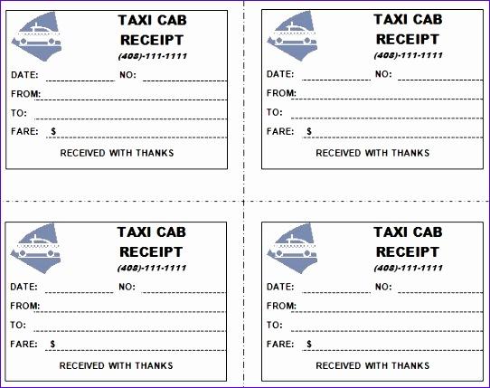taxi receipt templates 542429