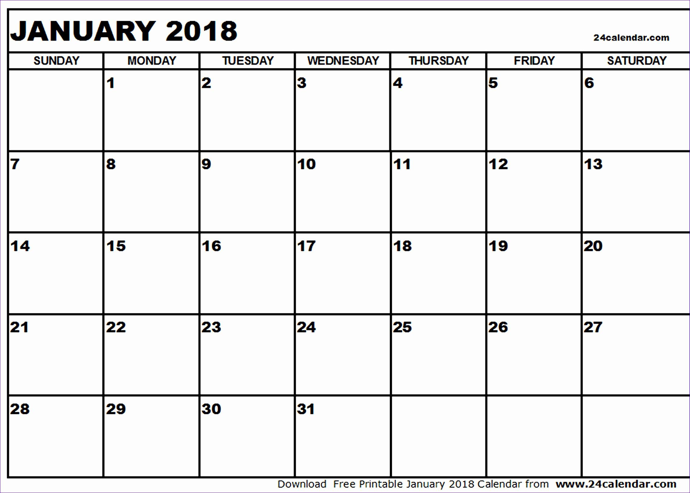january 2018 calendar template 1298