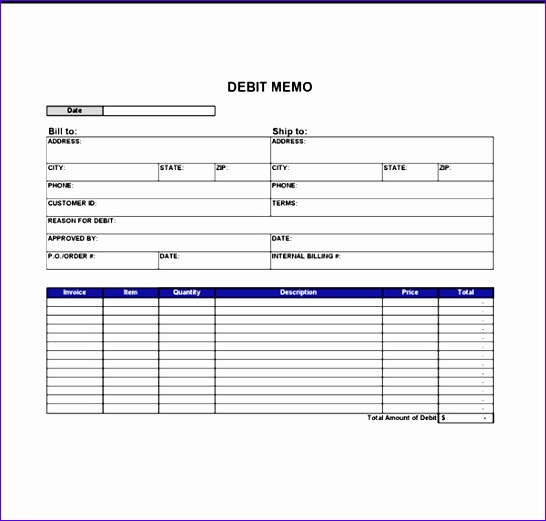 Credit Memo Template Excel  Exceltemplates  Exceltemplates