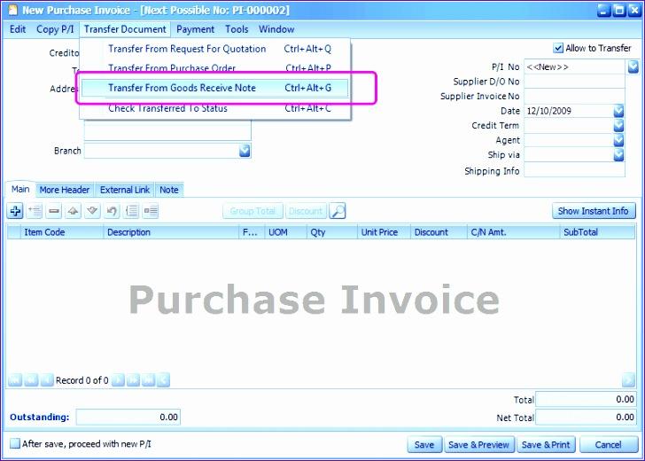 purchase invoice 728520