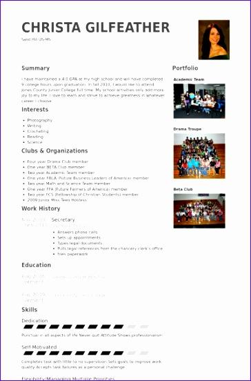 secretary cv examples 364552
