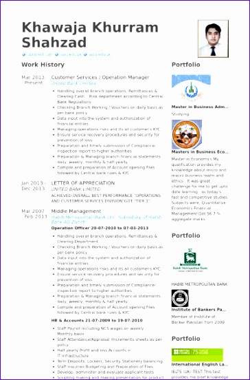 operation manager cv examples 364552