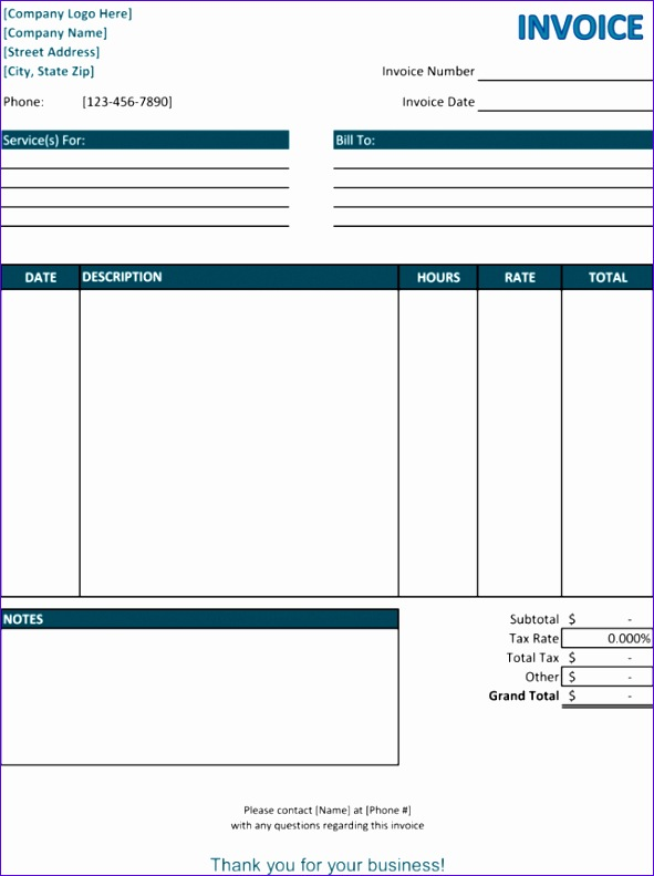 invoice template services 192 591791