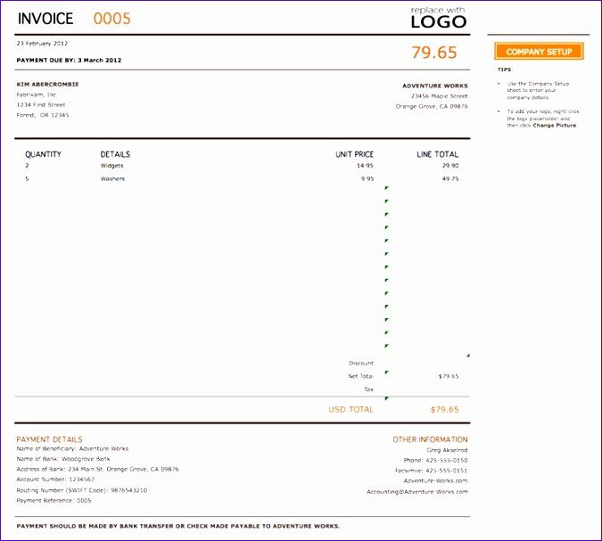 11 Customer Invoice Template Excel