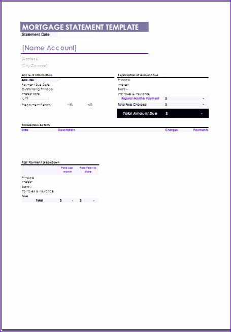 free mortgage statement template 455654