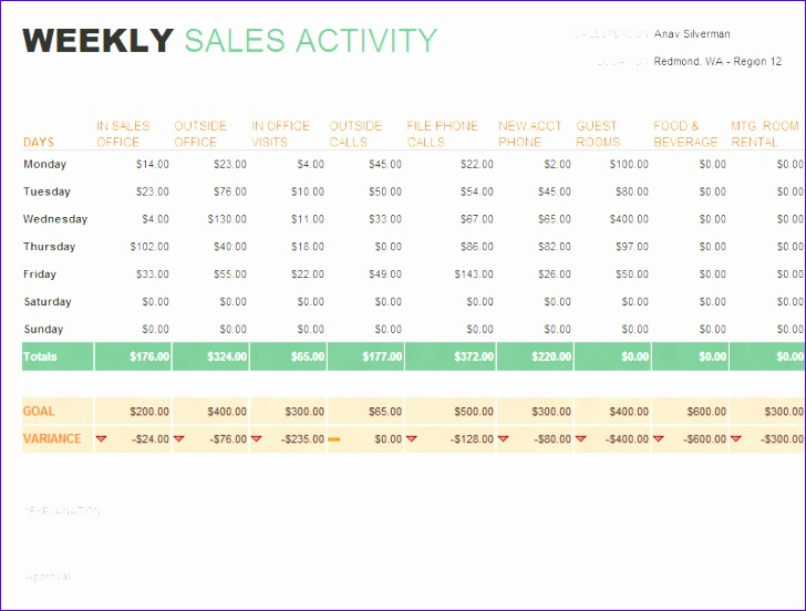 daily sales report template 728552