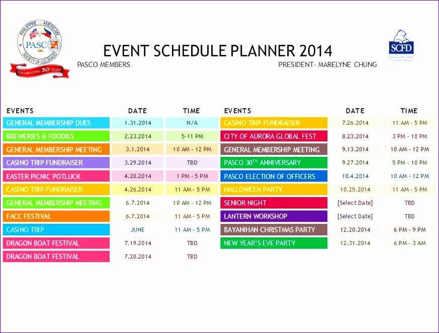 10 daily schedule excel template exceltemplates for Template for schedule of events