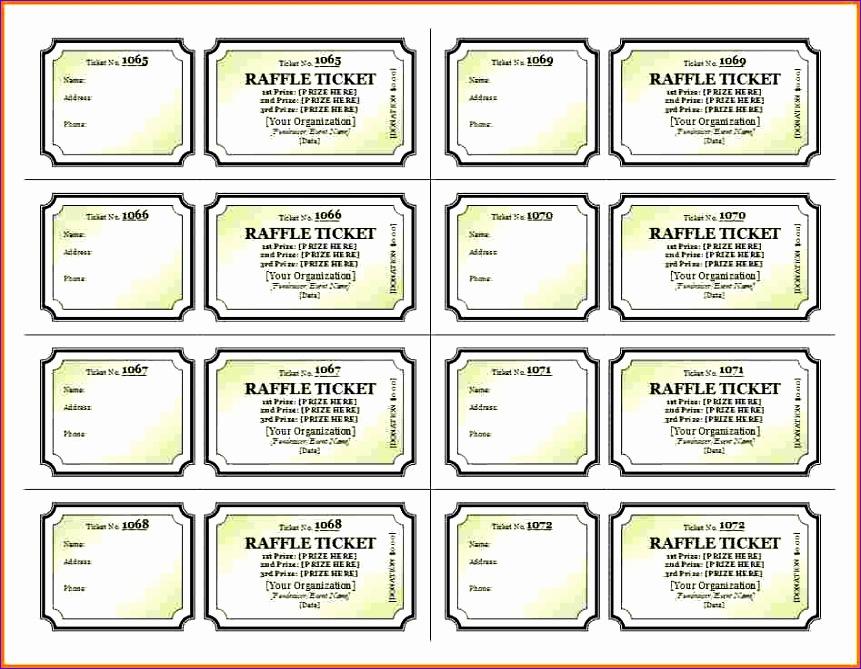 raffle ticket template free 861669